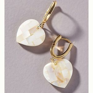 Anthropologie Ana Heart Huggie Earrings
